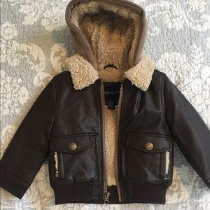 18 month London fog faux leather bomber jacket